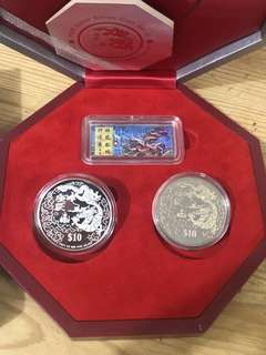 Year of Dragon Silver Proof Set.