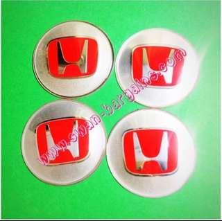 4pcs 65mm Universal Honda Logo Sports Rim Wheel Hub Center Cap Cover Trim Set Aluminium Decal