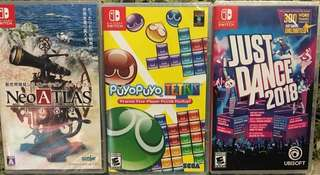 全新一手 三款switch遊戲 可換game