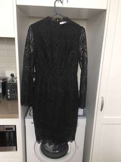 Ministry of Style Lace l/a black Dress 8 never worn