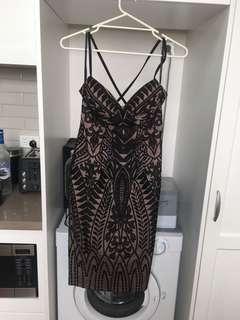 Sheike black Lace dress 10 BNWT RRP $239.95