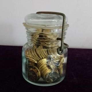 97年金色毫子硬幣