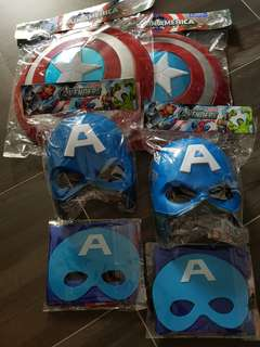 《 2 Sets Captain American Shield/Mask/Cape 》