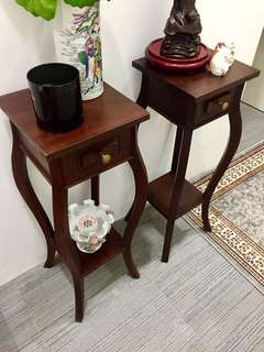 Tall Quality Teak Stands - Pair