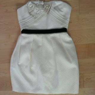 BCBG Cream Dress Size 2