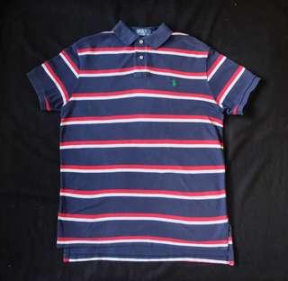 Authentic Ralph Lauren Custom Fit Nautical Stripe Polo Shirt