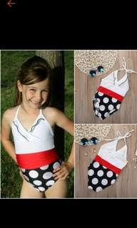 Little kids girls toddler baby swimsuit.