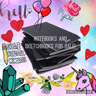 notebooks and sketchbooks ❤️