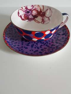 Purple and Red Teacup