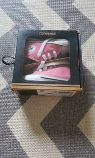 Converse First Star Hi Pink baby shoes
