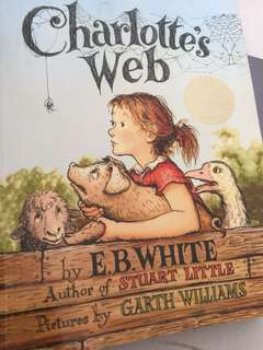 Charlotte's Web large print book illustrated