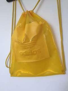 Adidas Yellow Drawstring Backpack