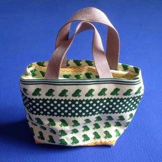 🚚 青蛙帆布小提袋/便當袋