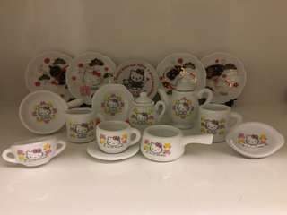 開心Share-@2003 Hello Kitty mini tea set 迷你陶瓷