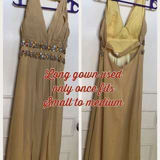 Bareback Long Gown