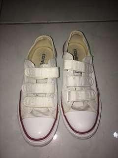 Converse Velcro White