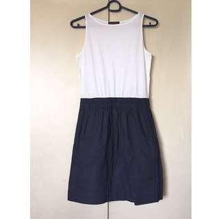 Plains & Prints 2-Tone Dress