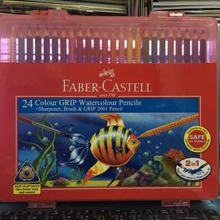 Faber Castell 24Colour GRIP Watercolour Pencils