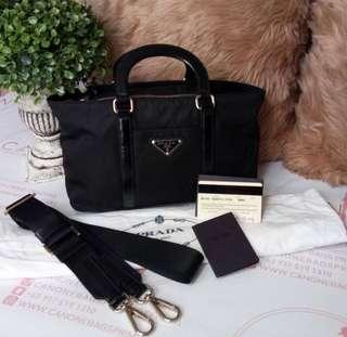 Prada Tessuto BN1052 Black Small two way Bag