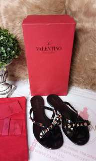 Valentino Jelly Sandals Black Size 36
