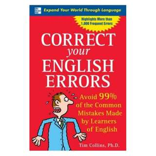 (Ebook) Correct Your English Errors: Avoid 99% of the Common Mistakes Made by Learners of English by Tim Collins