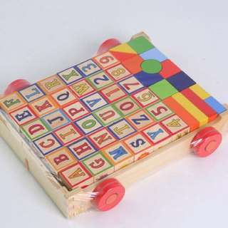 Wooden blocks in the Cart
