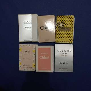 FREE: Sampel // Sample // Perfume // Parfum // Channel // Chloe // Marc Jacobs