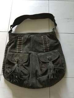Zara Suede Shoulder Bag