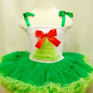 New Tree Girls Ribon Pettiskirt Pettitop Costume Dress Green 全新女童蝴蝶結紗紗裙