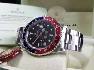 16700 with Rare DIAL - ROLEX GMT Master Red/Blue (Pepsi) RSC paper/Box !