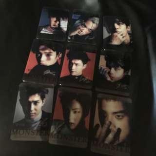 EXO 25張透明卡 (不是官周邊商品)
