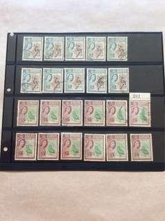 北婆罗洲邮票22枚