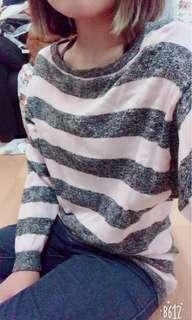 Black pink stripe sweater