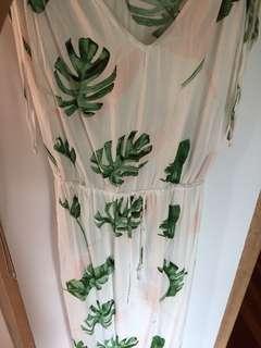 White floral dress size 14