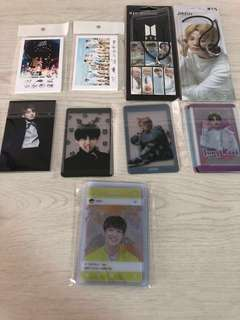 Bts lomo/ transparent cards/ ring necklace