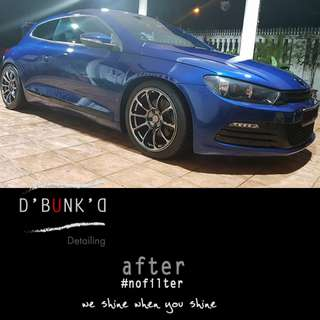 Car Polishing/Detailing/Paint Correction; Choose from 3 D'Bunk'D Packages for Q2 2018