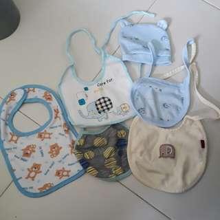 Brand new Newborn Baby Bibs and Hat