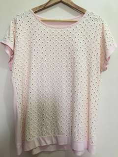 Plus Size Clothing: Peach Blouse