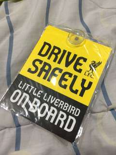 LFC Drive Safely Car Window Sign