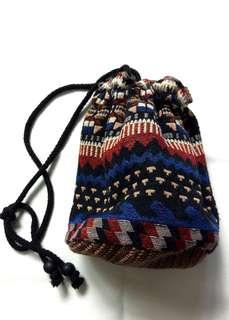 民族風袋仔 斜揹袋 水桶包 兩用 束囗袋