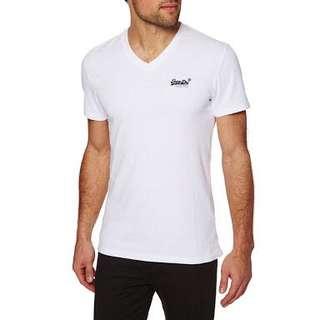 bnwt superdry vintage orange label white tshirt