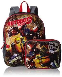 Transformers School Bag + Lunch Kit (NEW)