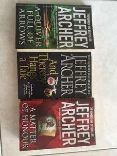 Novel Jeffrey Archer all 3 for 5