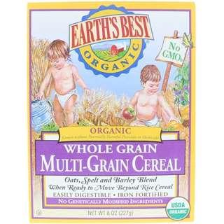 Earth's Best, Organic Whole Grain Multi-Grain Cereal, 8 oz (227 g)