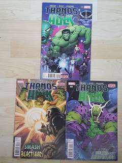 Marvel Comics Thanos VS Hulk Issues 2, 3 and 4 Near Mint Condition