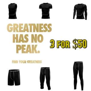 Pro Combat Compression Tights Wear Men 3 for $50
