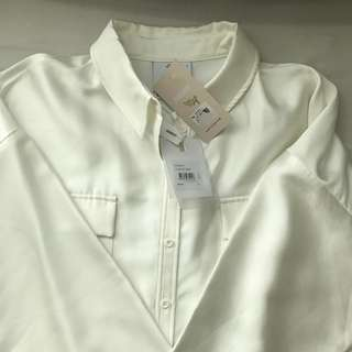 White Classic Long Sleeves Shirt
