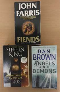Dan Brown, John Farris, Stephen King