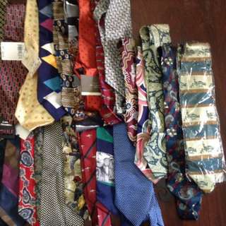 Decluttering 24 pcs Imported Neckties