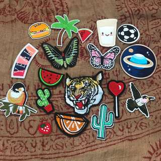 Iron and sew on patches